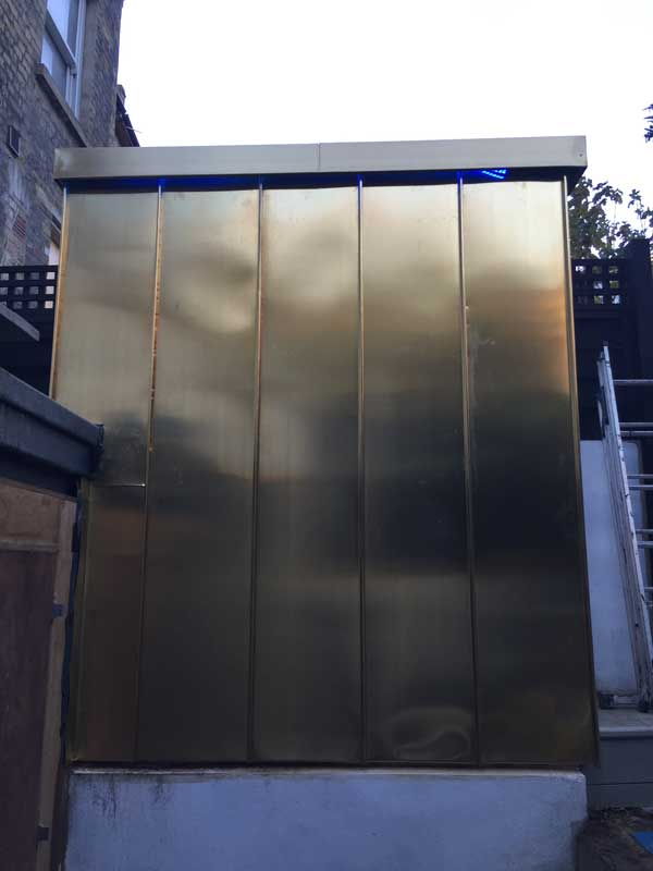 bright copper cladding and capping
