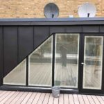 Vm Zinc Anthracite with Standing seam to roof access Chelsea